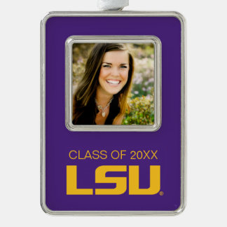 LSU Graduation Silver Plated Framed Ornament
