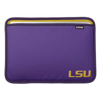 LSU Lettering Gold Logo Sleeve For MacBook Air