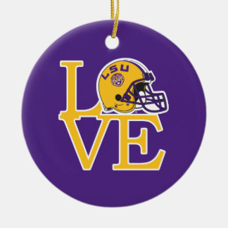 LSU Love Ceramic Ornament
