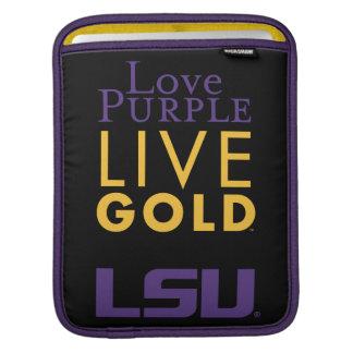 LSU Love Purple Live Gold Logo iPad Sleeves