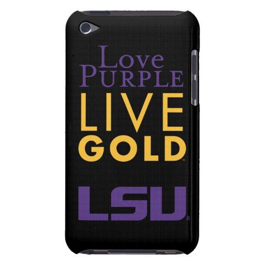 LSU Love Purple Live Gold Logo iPod Case-Mate Case