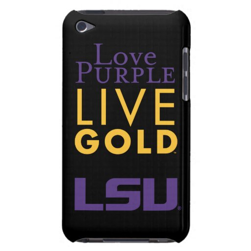 LSU Love Purple Live Gold Logo iPod Touch Cover