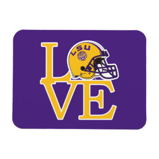 LSU Love Rectangular Photo Magnet