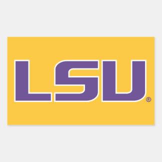 LSU Purple Rectangular Sticker