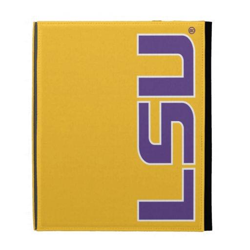 LSU Purple & White Logo iPad Folio Cover