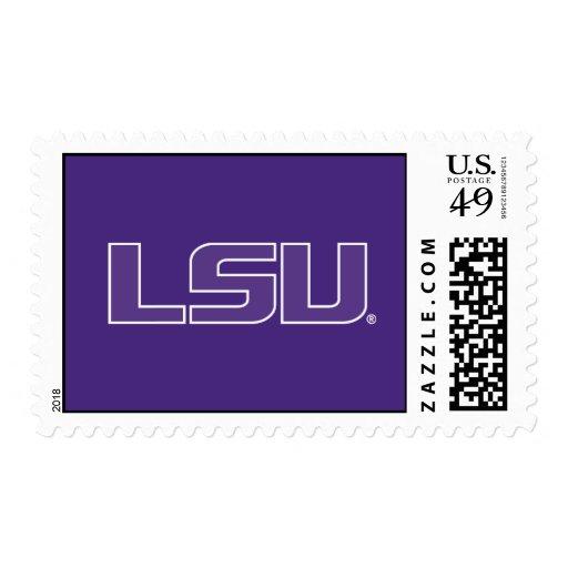 LSU Purple with White Stroke Logo Stamp