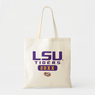 LSU Tigers   Graduation Year Tote Bag