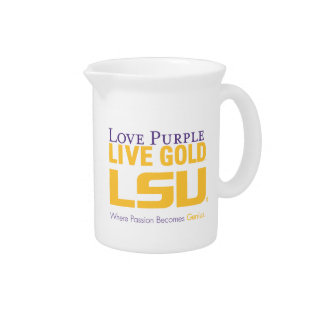 Lsu Where Passion Becomes Genius Beverage Pitcher at Zazzle