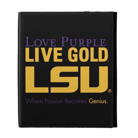 LSU Where Passion Becomes Genius iPad Folio Case