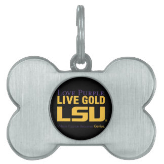 LSU Where Passion Becomes Genius Pet ID Tag