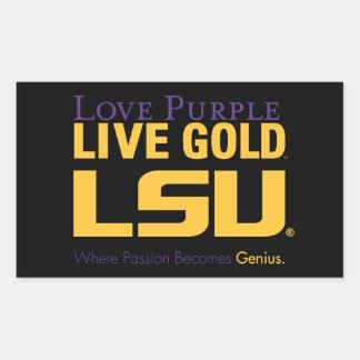 LSU Where Passion Becomes Genius Rectangular Sticker