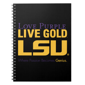 LSU Where Passion Becomes Genius Spiral Notebook