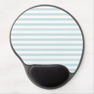 Lt. Blue and White Horizontal Stripe Gel Mouse Pads