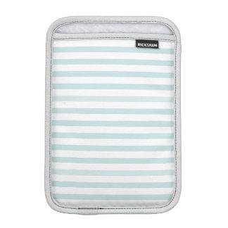 Lt. Blue and White Horizontal Stripe iPad Mini Sleeve
