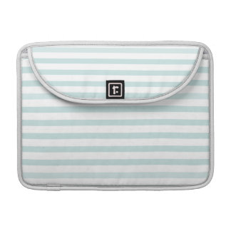 Lt. Blue and White Horizontal Stripe Sleeves For MacBook Pro