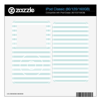 Lt. Blue and White Horizontal Stripe iPod Decals