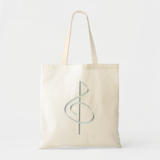 Lt. Blue Brushstroke Treble Clef Tote Bag