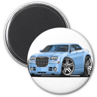 Lt Blue Car de Chrysler 300 Imán Redondo 5 Cm
