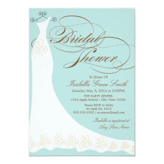 Lt Blue Elegant Dress | Bridal Shower Invitation