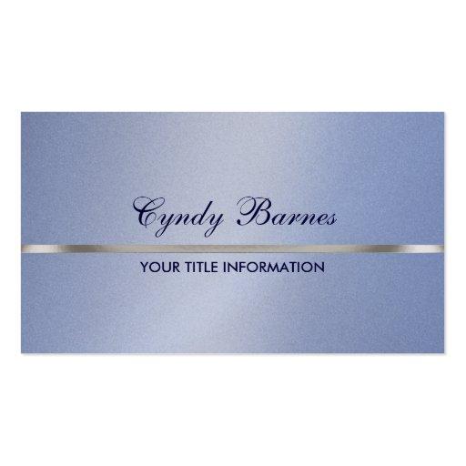 Lt Blue Shimmer con la tarjeta de visita de plata