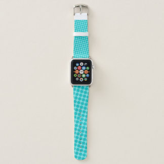 Lt Blue / Teal Clover Ribbon by Kenneth Yoncich Apple Watch Band