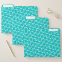 Lt Blue / Teal Clover Ribbon by Kenneth Yoncich File Folder