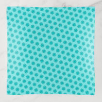 Lt Blue / Teal Clover Ribbon by Kenneth Yoncich Trinket Trays