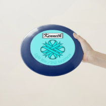 Lt Blue / Teal Clover Ribbon by Kenneth Yoncich Wham-O Frisbee