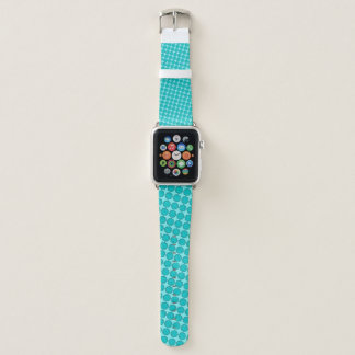 Lt Blue / Teal Flower Ribbon by Kenneth Yoncich Apple Watch Band