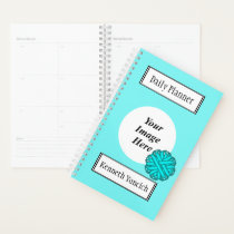 Lt Blue / Teal Flower Ribbon by Kenneth Yoncich Planner