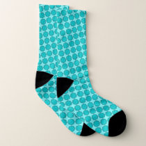 Lt Blue / Teal Flower Ribbon by Kenneth Yoncich Socks