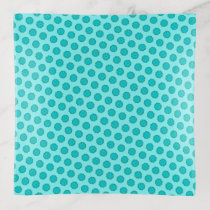 Lt Blue / Teal Flower Ribbon by Kenneth Yoncich Trinket Trays