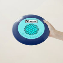 Lt Blue / Teal Flower Ribbon by Kenneth Yoncich Wham-O Frisbee