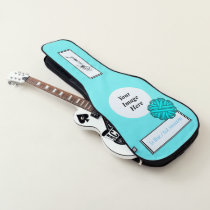 Lt Blue/Teal Flower Ribbon Tmpl by Kenneth Yoncich Guitar Case