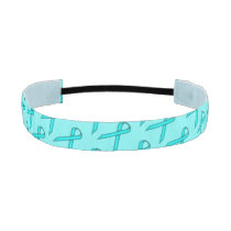 Lt Blue/Teal Standard Ribbon by Kenneth Yoncich Athletic Headband