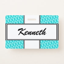 Lt Blue / Teal Standard Ribbon by Kenneth Yoncich Badge