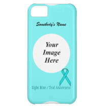 Lt Blue / Teal Standard Ribbon by Kenneth Yoncich iPhone 5C Cover