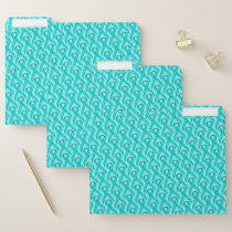 Lt Blue / Teal Standard Ribbon by Kenneth Yoncich File Folder