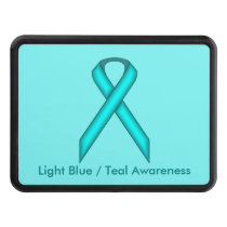 Lt Blue/Teal Standard Ribbon by Kenneth Yoncich Hitch Cover