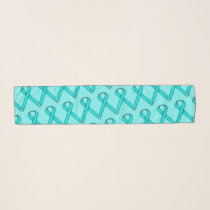 Lt Blue / Teal Standard Ribbon by Kenneth Yoncich Scarf