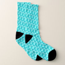 Lt Blue / Teal Standard Ribbon by Kenneth Yoncich Socks