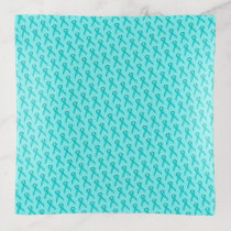 Lt Blue / Teal Standard Ribbon by Kenneth Yoncich Trinket Trays