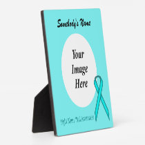 Lt Blue/Teal Standard Ribbon Template by K Yoncich Plaque