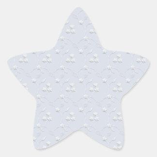 Lt Blue y blanco del cordón Calcomanías Forma De Estrella Personalizadas