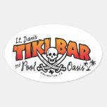 Lt. Dan's Tiki Bar & Pool Oasis Merchandise Oval Sticker