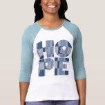 Lt de la ESPERANZA de las mujeres. Camiseta azul d