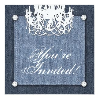 Lt de la lámpara de la invitación del boda de invitación 13,3 cm x 13,3cm