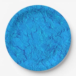 Lt esculpido Azul-Papel Party Plates de las Platos De Papel
