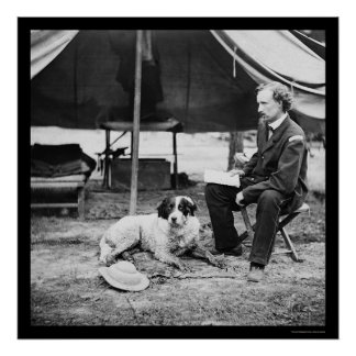 Lt George A Custer Dog at Peninsula VA 1862 Posters