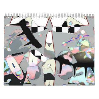 Lt Grey Abstract Calendar Calendario